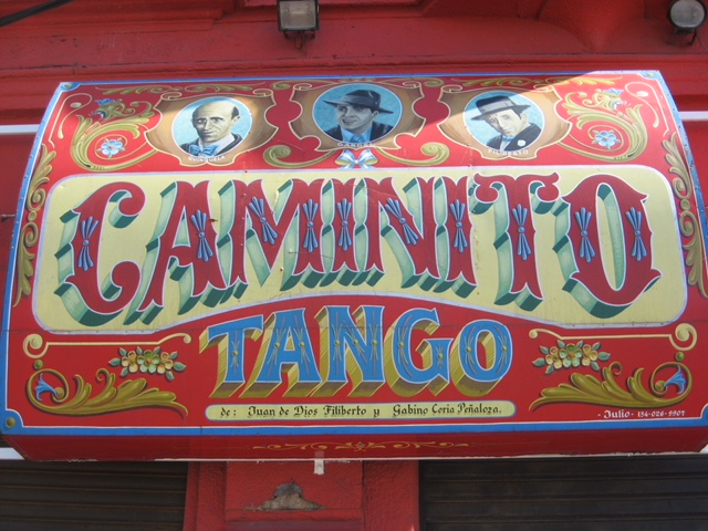 Sign for Caminito Tango